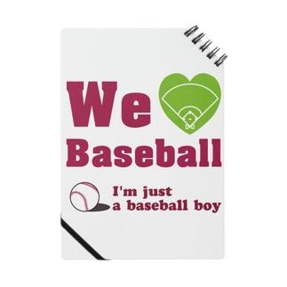 We love Baseball(レッド) Notes