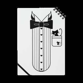 かにゃんクリエイトの猫ドレスシャツノート