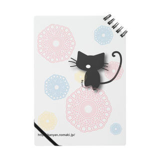 かにゃんクリエイトのレースシャボン猫ノート