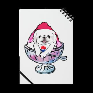 犬グッズの店しえるぶるーのかき氷ワンちゃん 氷イチゴ ペキニーズ ホワイト Notes