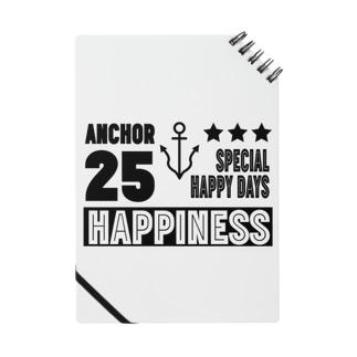 Happinessイカリマーク(黒) ノート