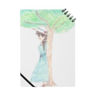 ひよこ工房の木陰で休む少女 Notebook