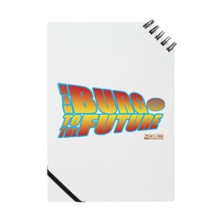 ハンバーグ王子のハンバーググッズオンラインショップ「1日1バーグ」のハンバーグイラスト「ハンバーグ・トゥ・ザ・フューチャー」 Notes