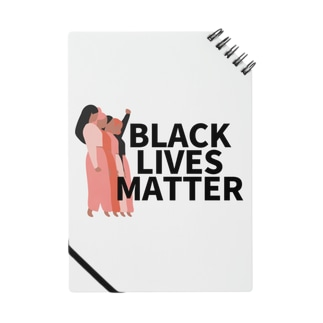 RIRI_designのBLACK LIVES MATTER(ブラック・ライブス・マター)walking Notes