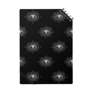 目たくさんノート黒 Notes