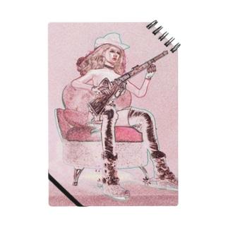 FUCHSGOLDのCG絵画:ライフル銃を持つ女性ガンファイター CG art: Female gunfighter with a rifle gun Notes