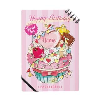 お誕生日のプレゼントにカップケーキ(お名前を入れます) Notes