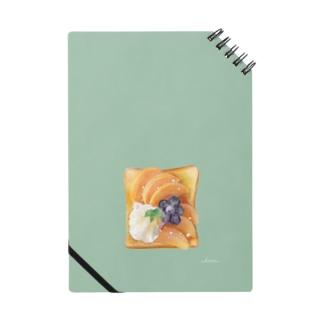 フルーツトースト(背景色あり) Notes