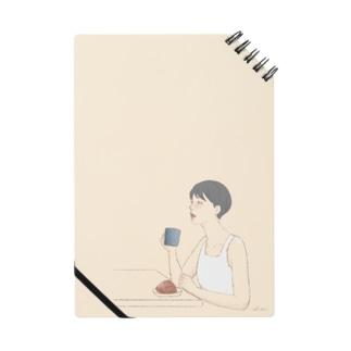 コーヒーを飲む女性 Notes