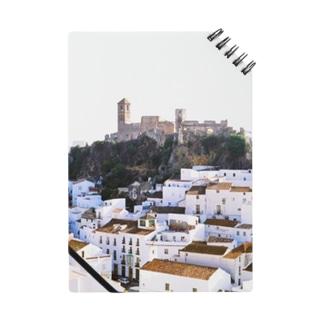 スペイン:丘の上の村カサレスの遠望 Spain: Casares  (Cásares) Notes