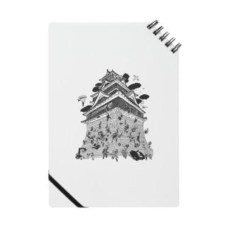 熊本地震復興支援 熊本城武者返し イラストカラー:ブラック Notes