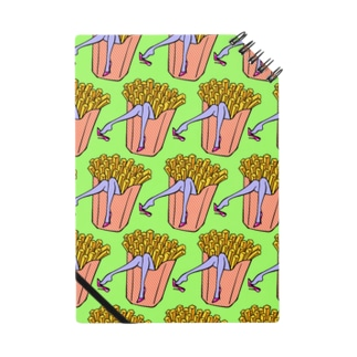 魅惑のフライドポテト🍟 GULTY PLEASURE FRENCH FRIES GREEN Notebook