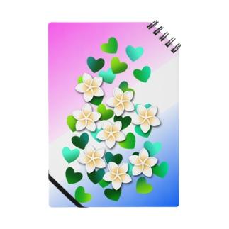 あきじあまみぃのプルメリアと緑のハート Notes