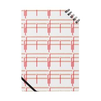 赤鉛筆ボーダー Notes