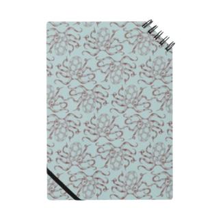 nemunoki paper itemの水玉海洋生物 イイダコ Notebook