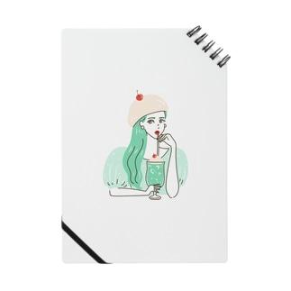 yuki illustrationのCREAM SODA GIRL Notes
