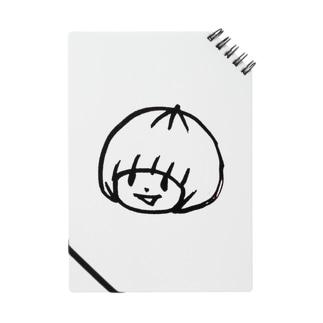 おかっぱミユキロゴマーク Notebook