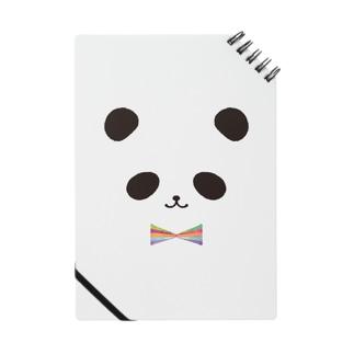 カラフル蝶ネクタイ パンダ Notes