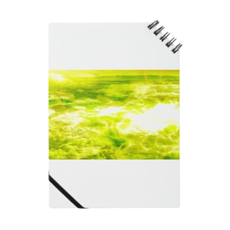 「宇宙の水面」黄緑1-2 Notes
