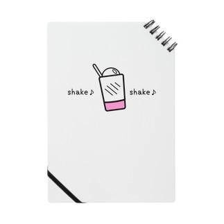 物イラスト483 shakeshake 黒 Notes