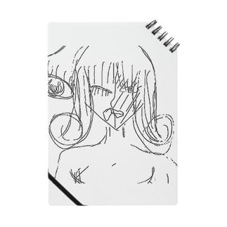 巻き髪の女(白黒) Notes