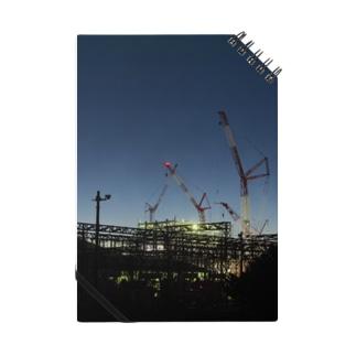 建設現場のクレーン Notes