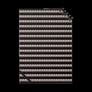 tomokomiyagamiのピラミッドスタッズ ボーダー黒 ノート