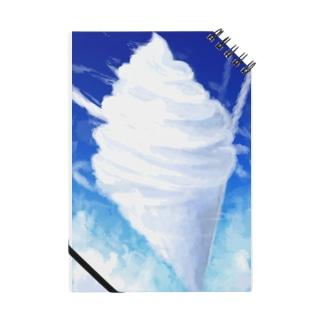 ソフトクリームみたいな雲 Notebook