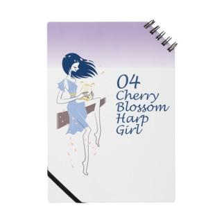Cherry blossom Harp Girl Notes