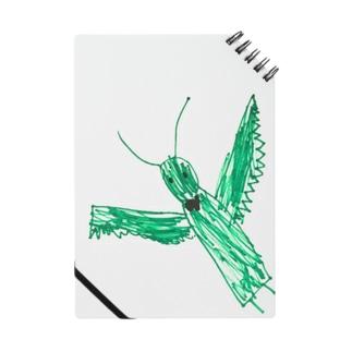 5歳のこのさんが描いた「かまきり」 Notes