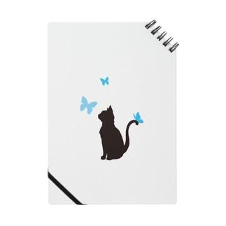猫と蝶(青) ノート