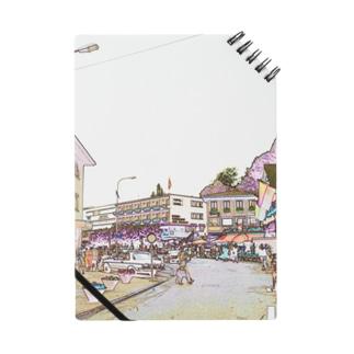 CG絵画:ファドゥーツの街角風景 CG art: view of Vaduz Notes