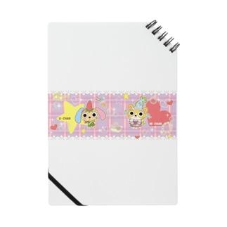 うさぎのうーちゃんと猫のみーちゃん(オシャレ) Notes