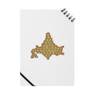 北海道のキタキツネ分布図 Notes