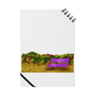 秋のベンチと風景 Notes
