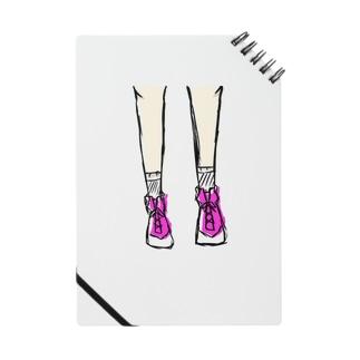 ピンクのシューズ ノート