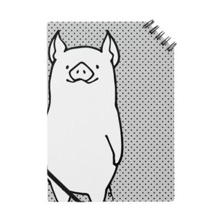 ウエスト見切れ豚さんノート Notes
