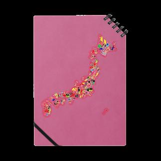 MEWのにほんみたいなところのちず。*pinkノート