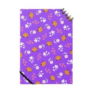 ねこカボチャ柄 紫 Notes