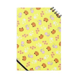 ねこカボチャ柄 黄色 Notes