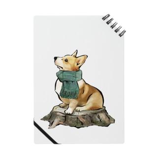 マフラー犬 コーギー Notes