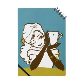"Coffee & Girl ""No.K"" Notebook"