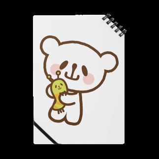 おやまくまオフィシャルWEBSHOP:SUZURI店のなかよしおやまくまとおやまむしノート