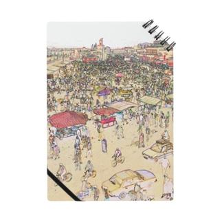 CG絵画:マラケシュのジャマ・エル・フナ市場 CG art: Jemaa el-Fnaa of Marrakesh Notes