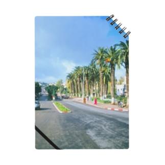 モロッコ:椰子の並木道 Morocco: Palm Tree-Lined Street Notes
