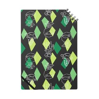 【メリのすけフレンズ】(黒・緑) ノート