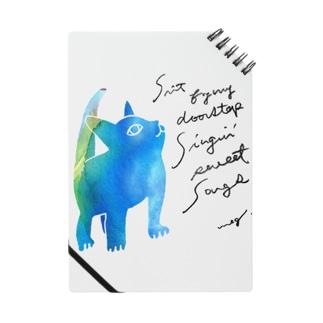 青いねこ ノート