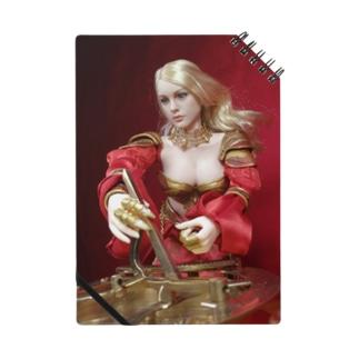 人形写真:日時計を操作する金髪貴婦人 Doll picture: Blonde noble with a sundial Notes