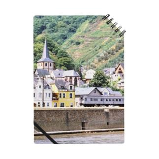 ドイツ:ライン河畔の風景写真 Germany: view of the riverside of Rhein Notes