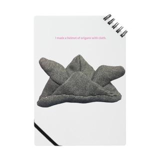 「布」で「おり紙」をおったよグレーhelmet Notes